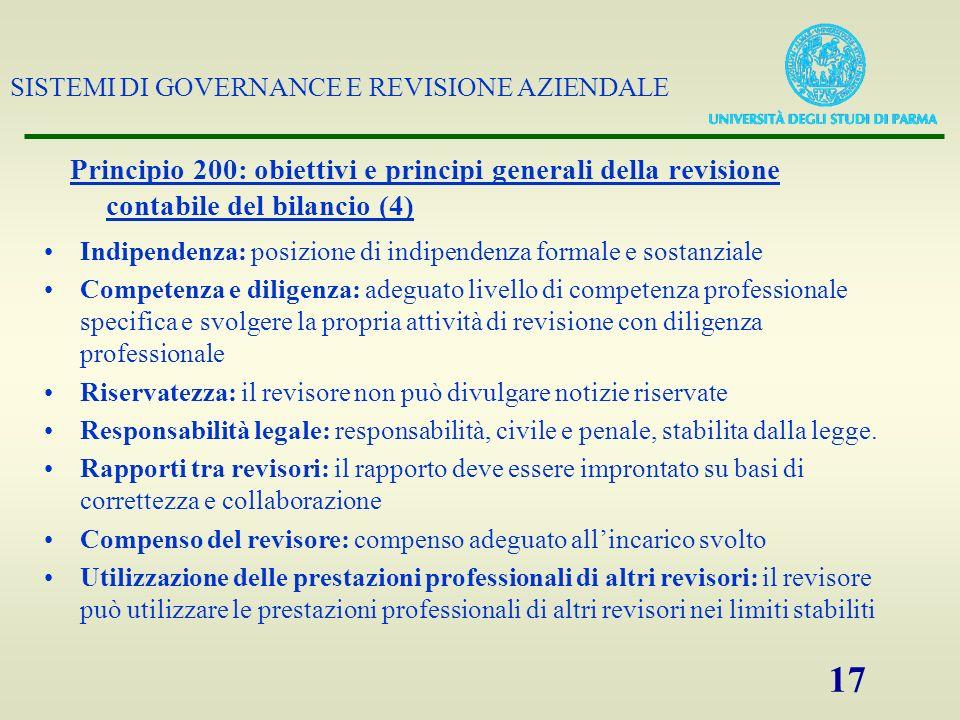 Principio 200: obiettivi e principi generali della revisione contabile del bilancio (4)