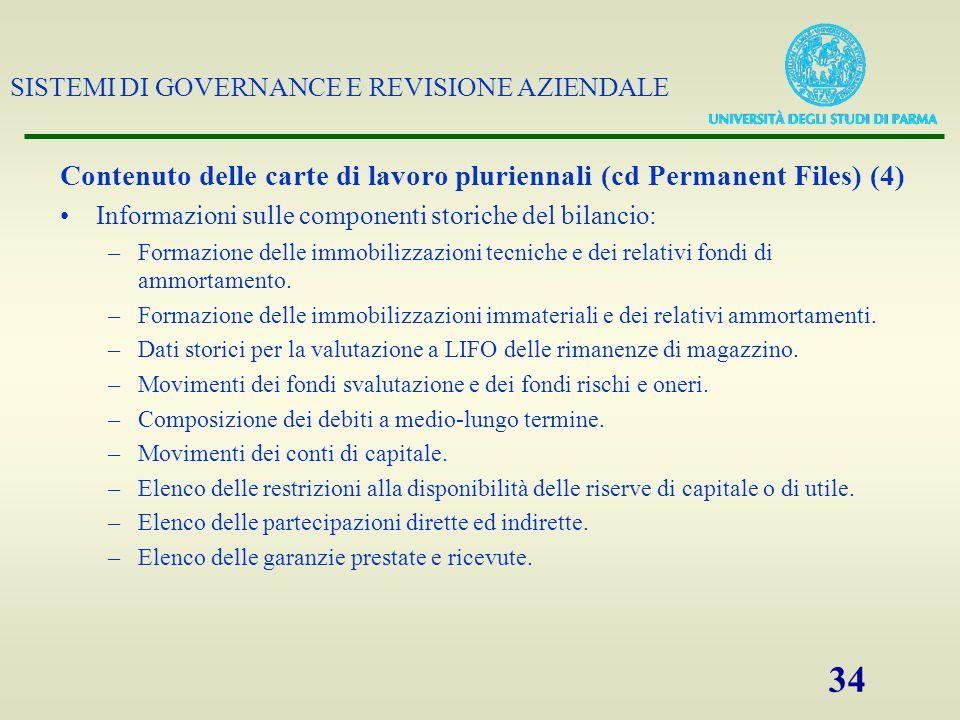 Contenuto delle carte di lavoro pluriennali (cd Permanent Files) (4)