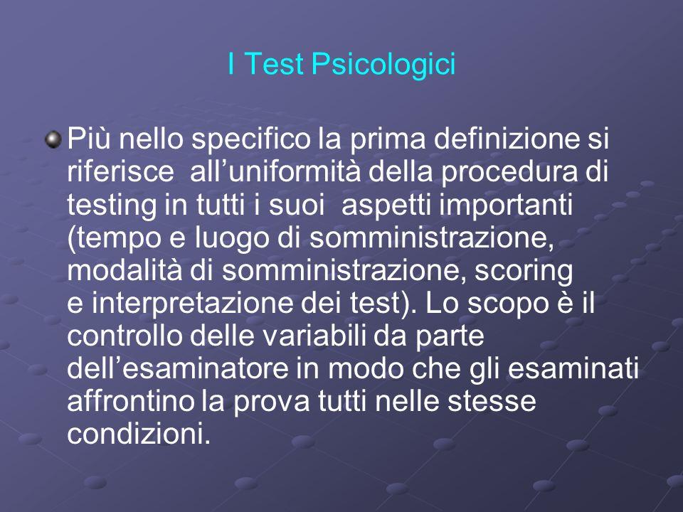 I Test Psicologici