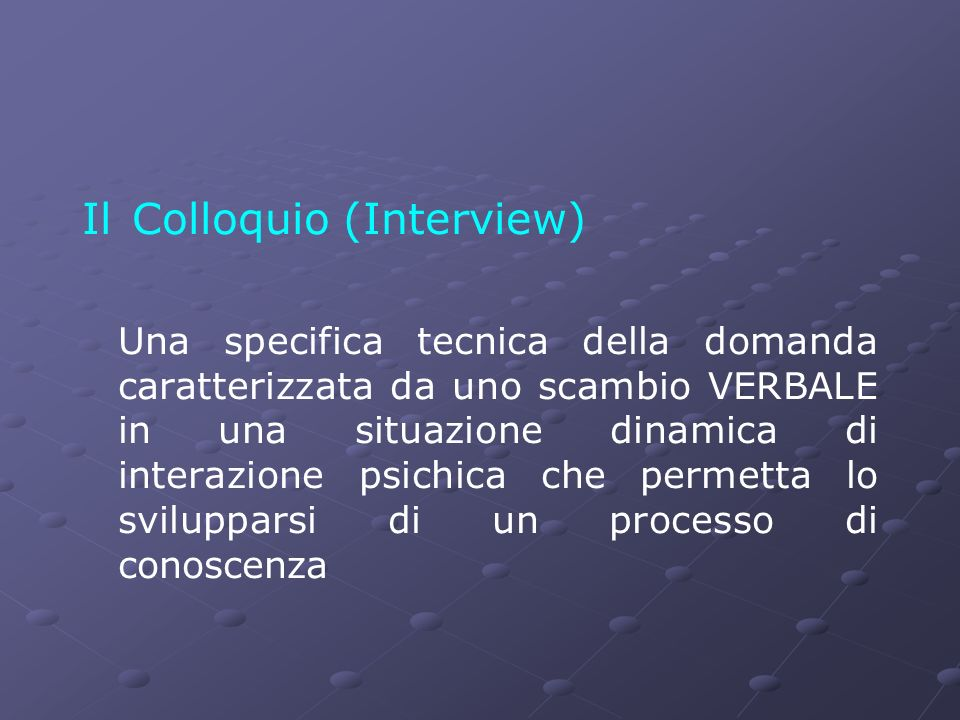 Il Colloquio (Interview)