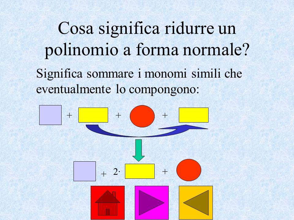 Cosa significa ridurre un polinomio a forma normale