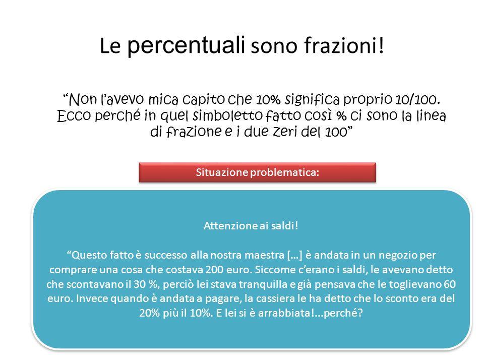 Le percentuali sono frazioni!