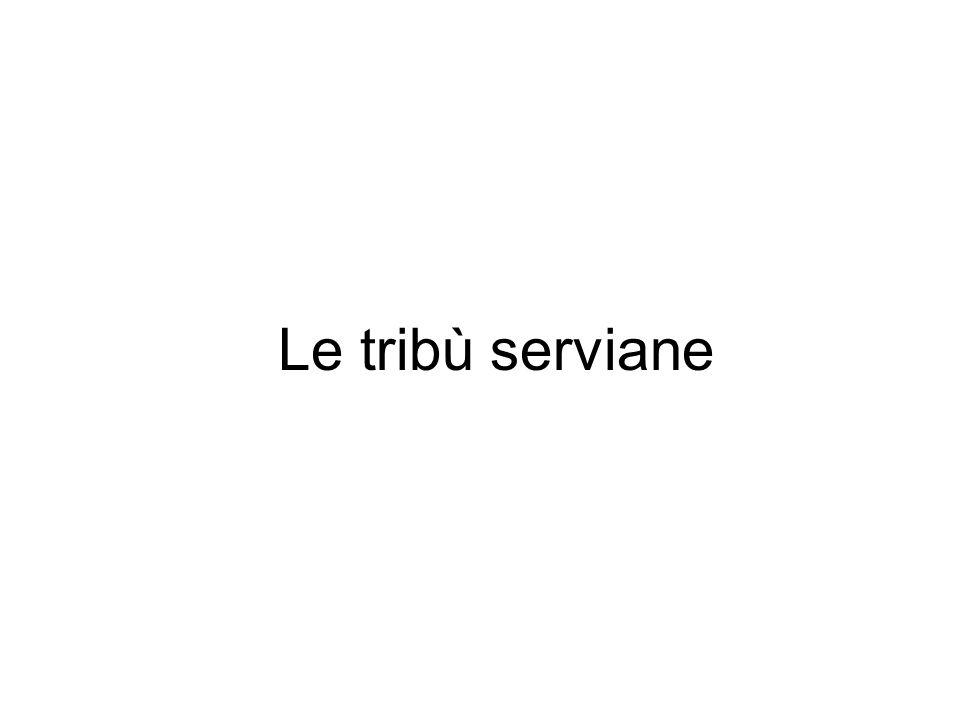 Le tribù serviane