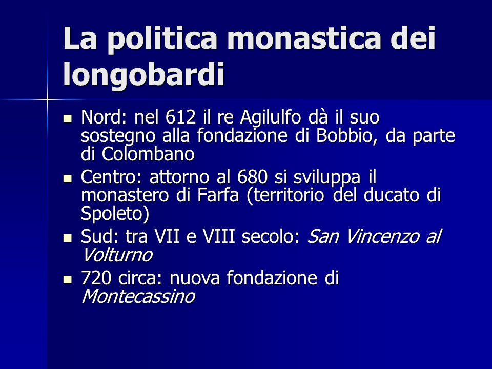 La politica monastica dei longobardi