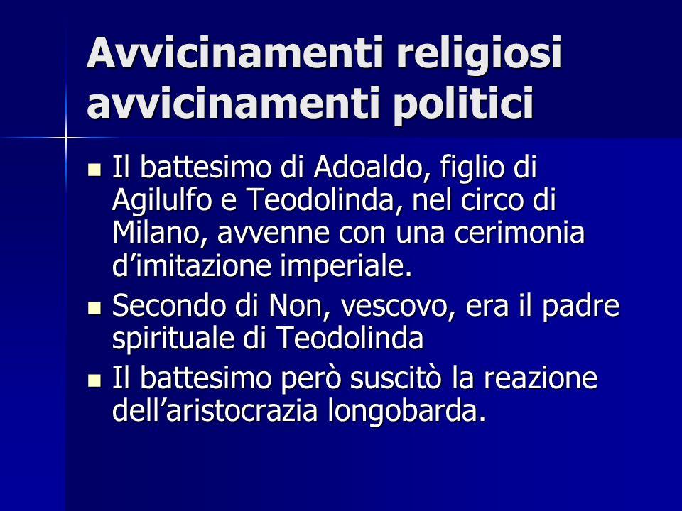 Avvicinamenti religiosi avvicinamenti politici