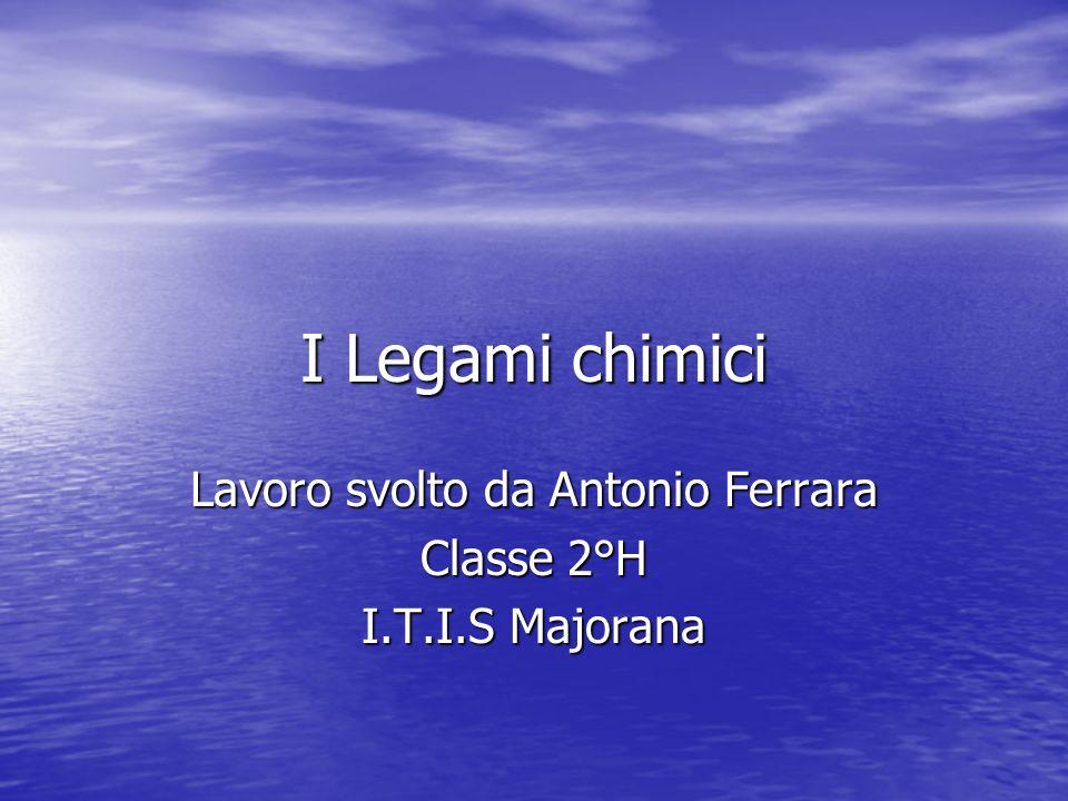 Lavoro svolto da Antonio Ferrara Classe 2°H I.T.I.S Majorana