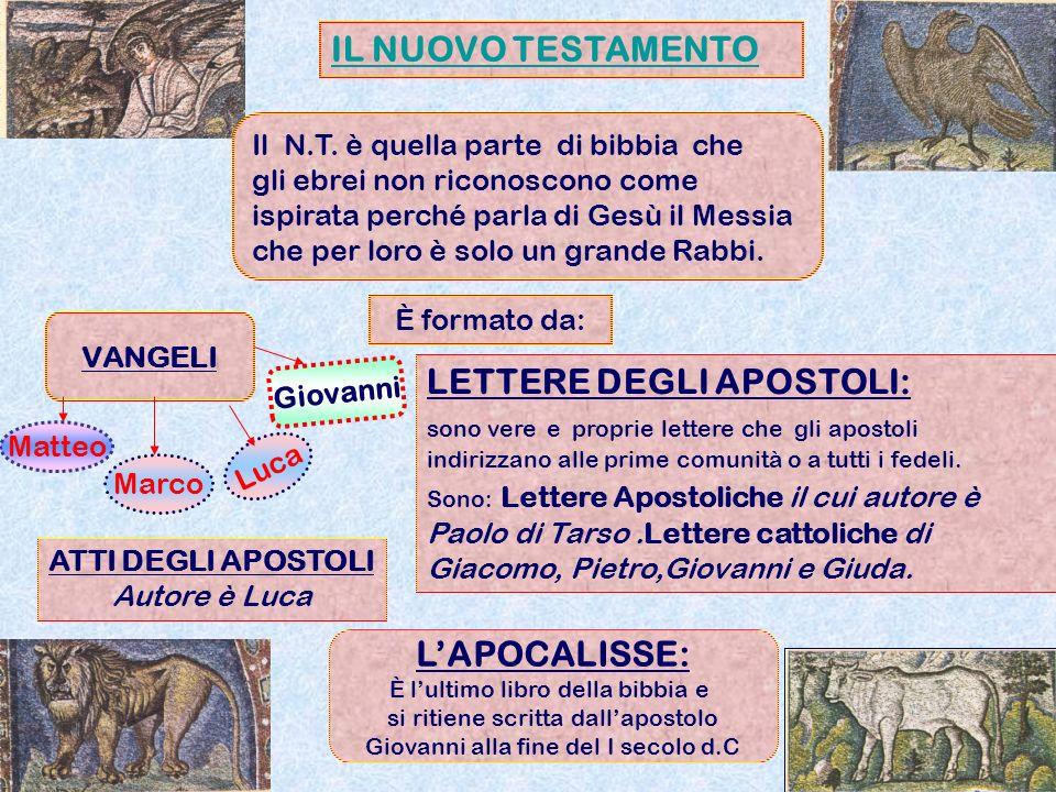 LETTERE DEGLI APOSTOLI:
