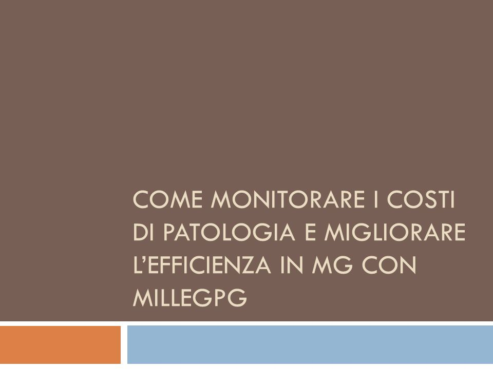 Come monitorare i costi di patologia e migliorare l'efficienza in MG con MilleGPG