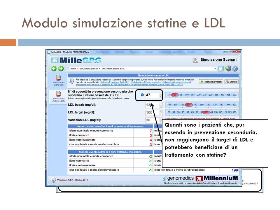 Modulo simulazione statine e LDL
