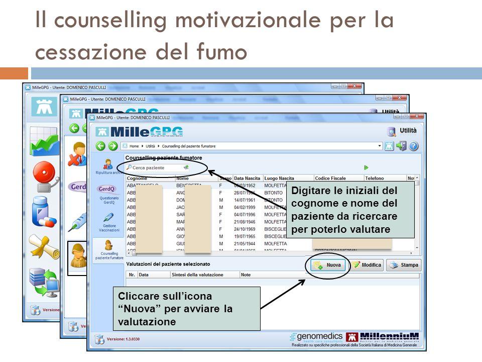 Il counselling motivazionale per la cessazione del fumo