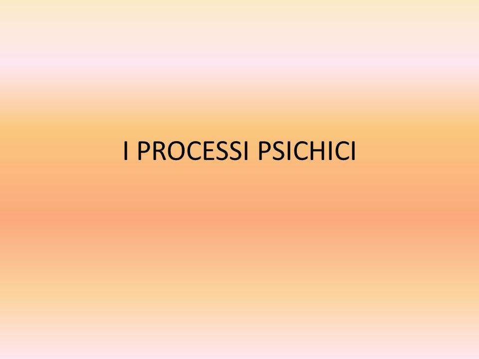 I PROCESSI PSICHICI