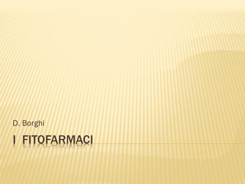 D. Borghi I fitofarmaci