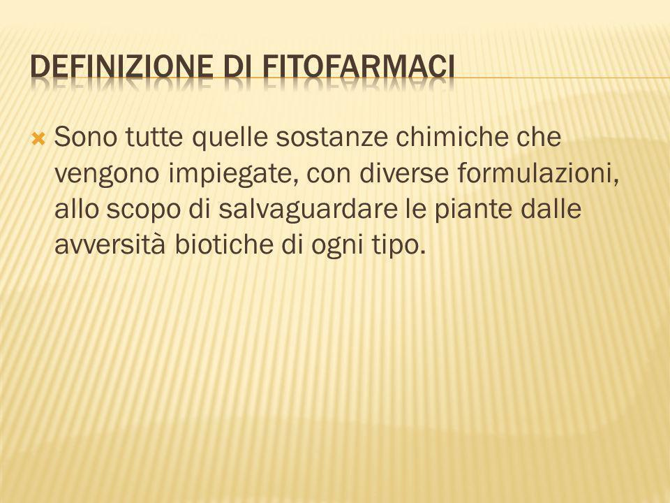 Definizione di fitofarmaci