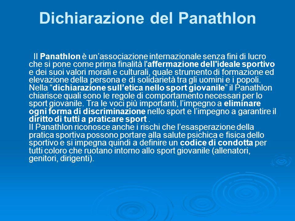 Dichiarazione del Panathlon