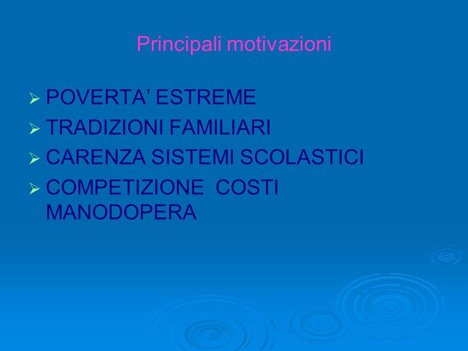 Principali motivazioni