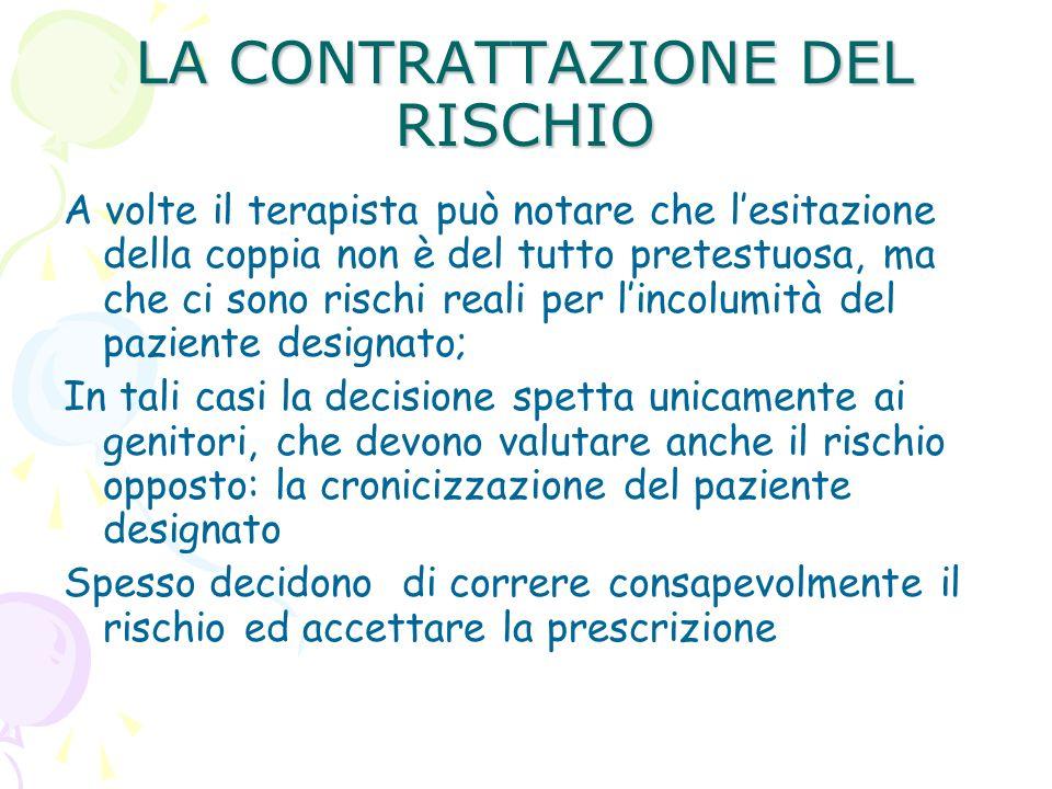 LA CONTRATTAZIONE DEL RISCHIO