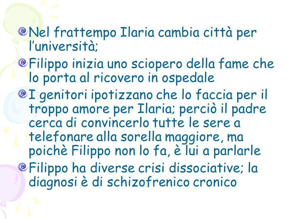 Nel frattempo Ilaria cambia città per l'università;