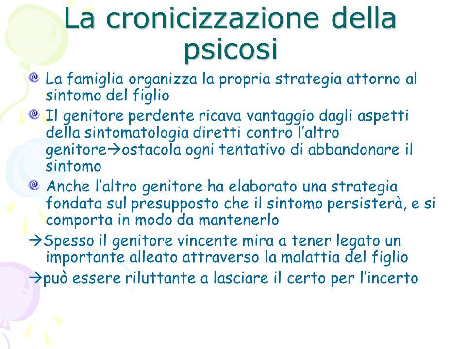 La cronicizzazione della psicosi