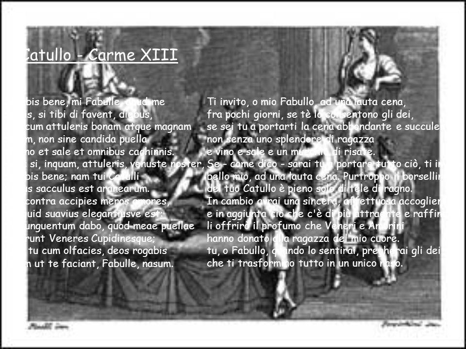 Catullo - Carme XIII