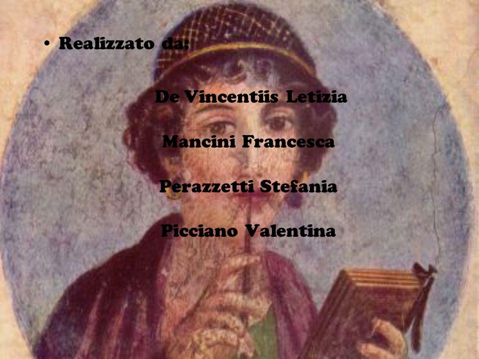 Realizzato da: De Vincentiis Letizia Mancini Francesca Perazzetti Stefania Picciano Valentina