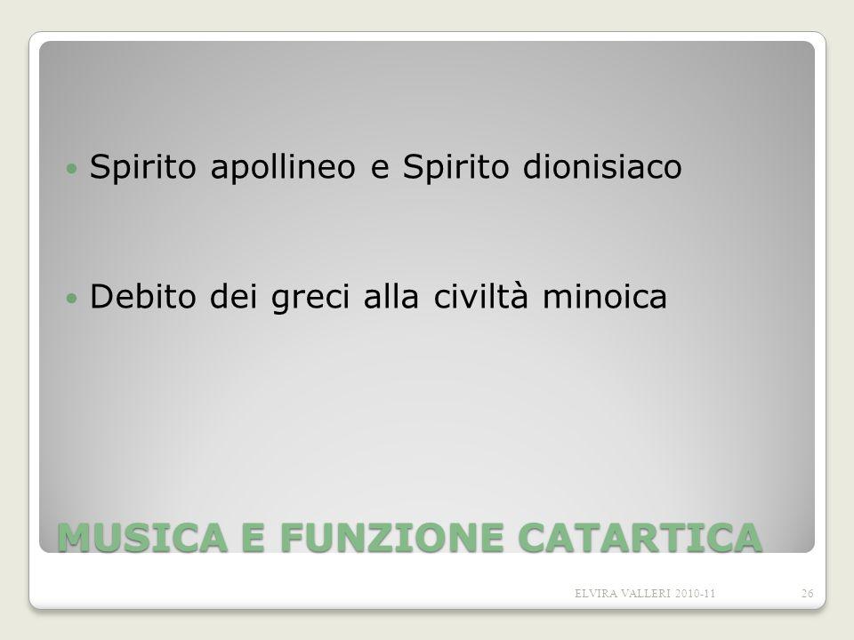 MUSICA E FUNZIONE CATARTICA