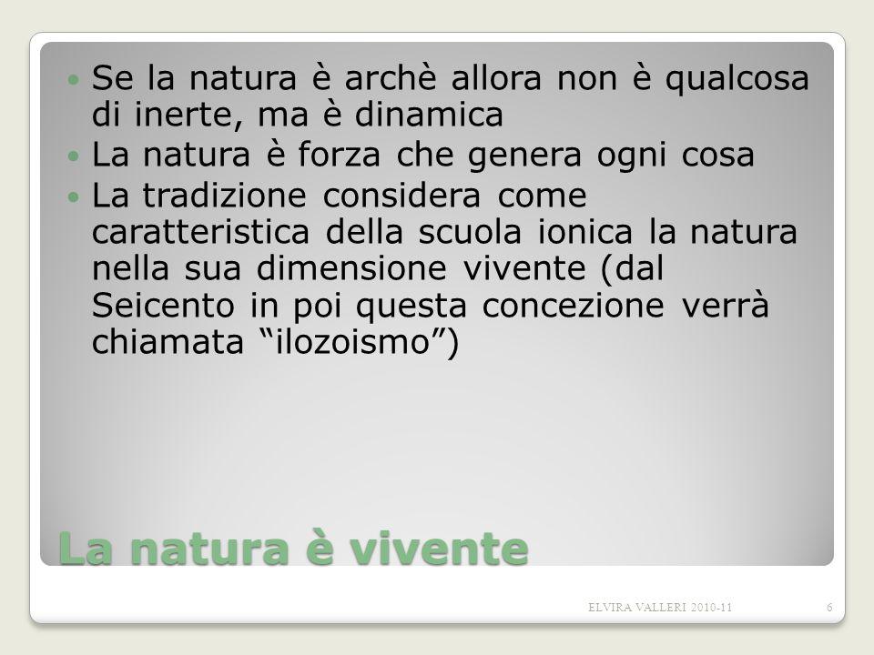 Se la natura è archè allora non è qualcosa di inerte, ma è dinamica