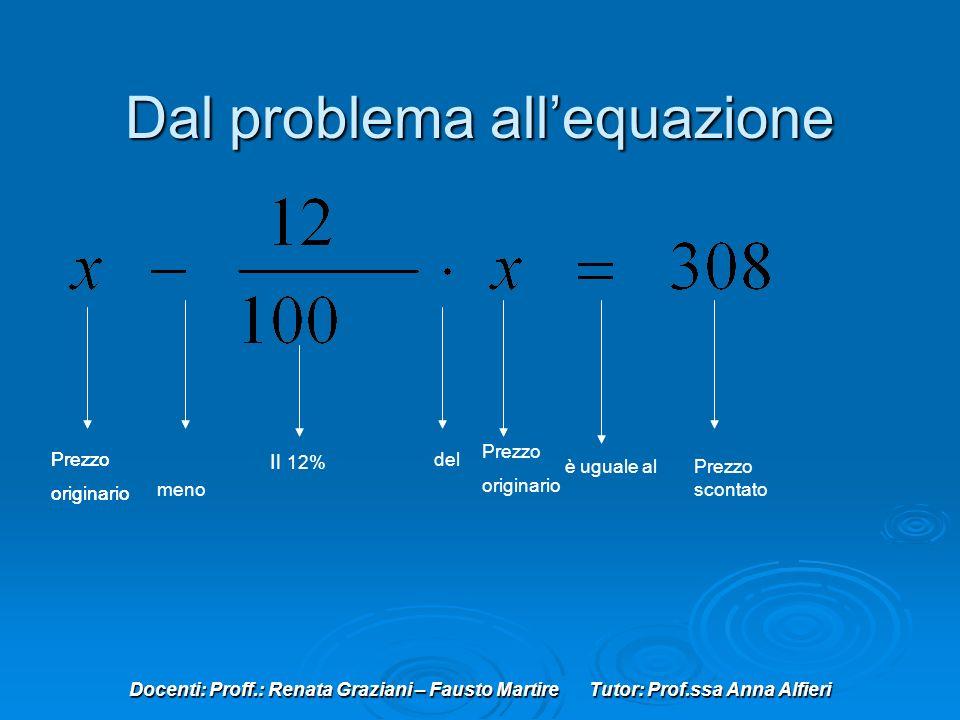 Dal problema all'equazione