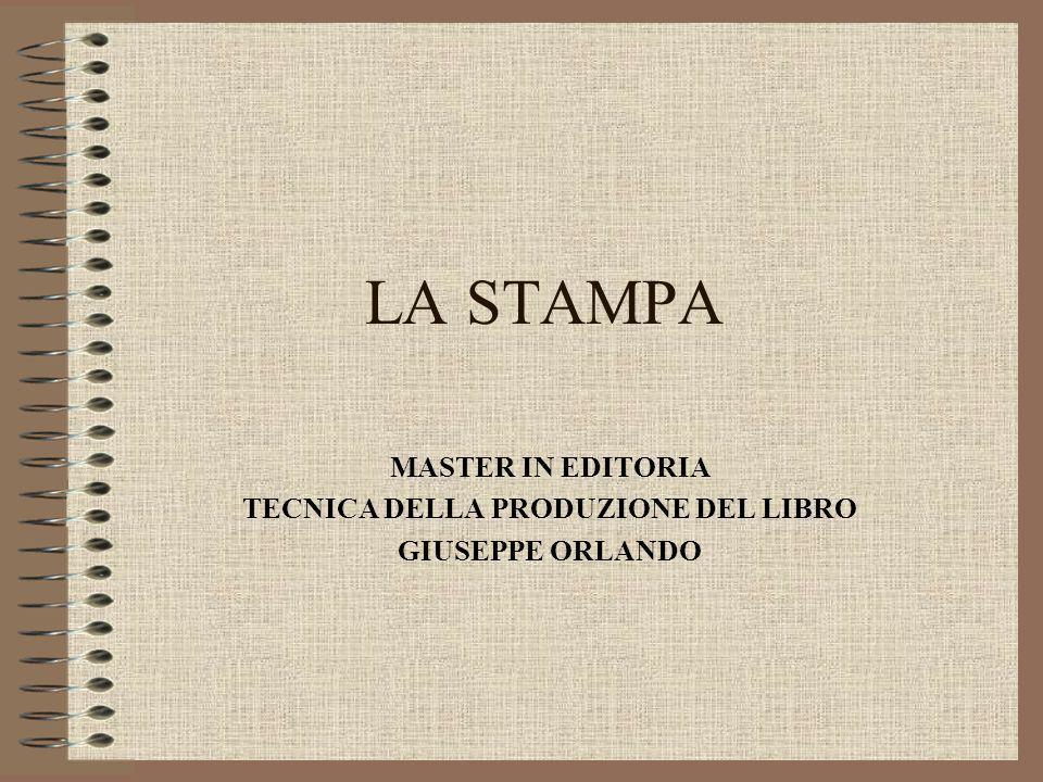 MASTER IN EDITORIA TECNICA DELLA PRODUZIONE DEL LIBRO GIUSEPPE ORLANDO