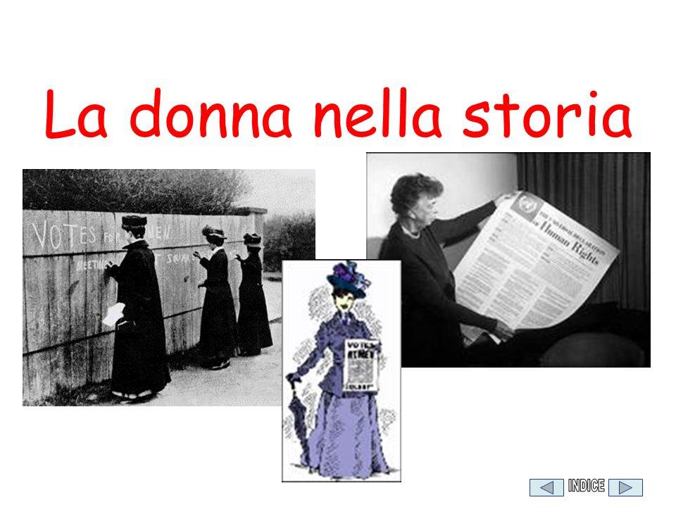 La donna nella storia INDICE