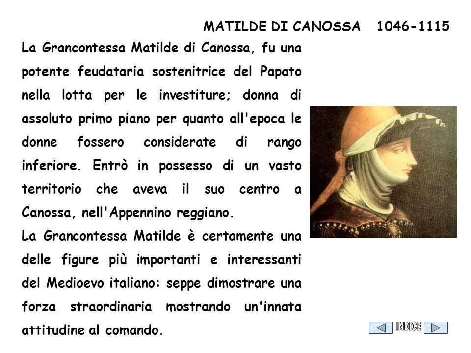 MATILDE DI CANOSSA 1046-1115