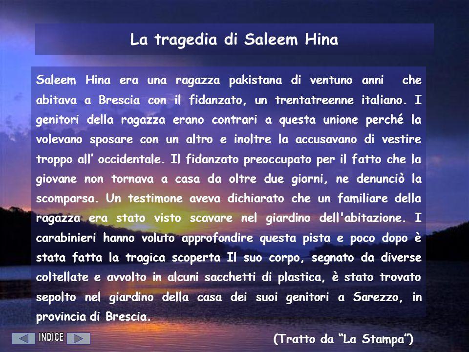 La tragedia di Saleem Hina