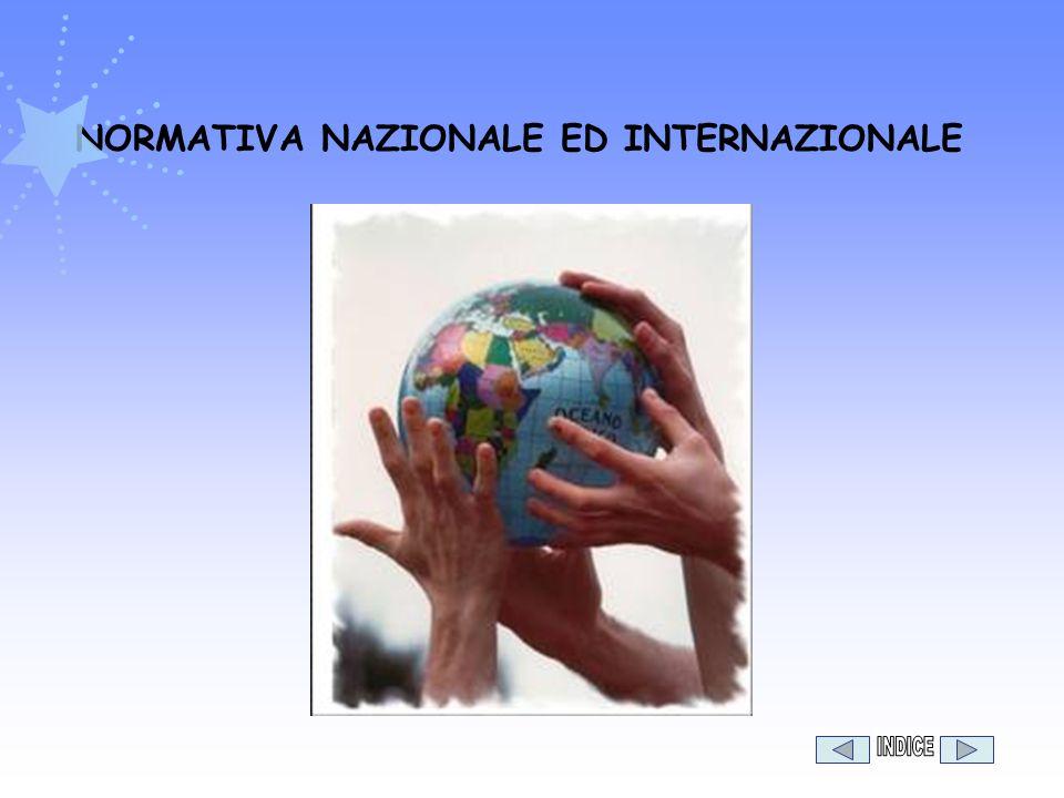 NORMATIVA NAZIONALE ED INTERNAZIONALE