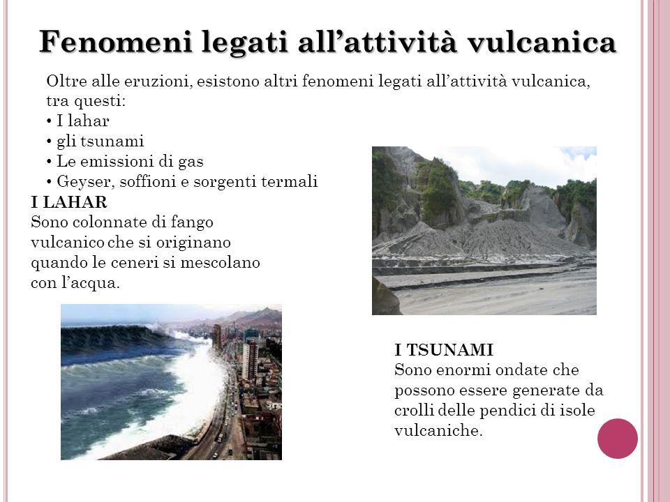 Fenomeni legati all'attività vulcanica