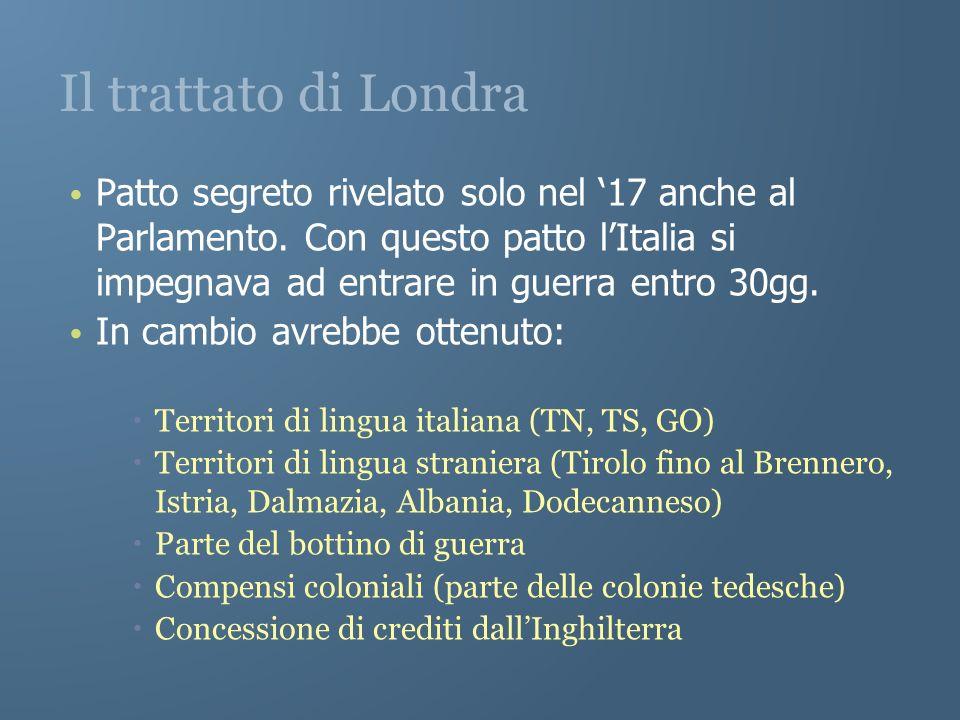 Il trattato di Londra