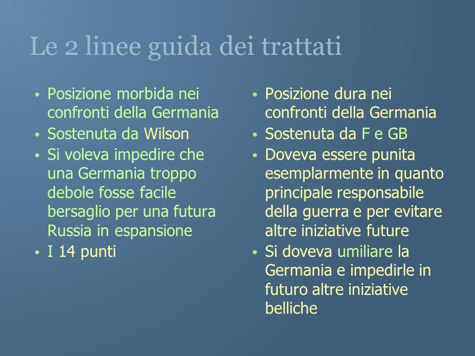 Le 2 linee guida dei trattati