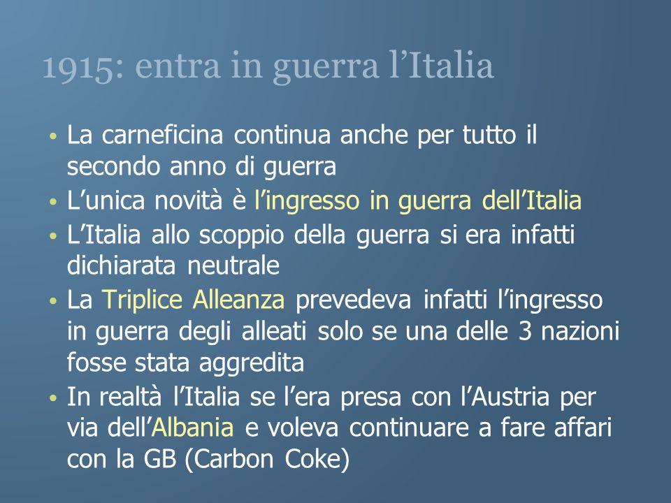 1915: entra in guerra l'Italia