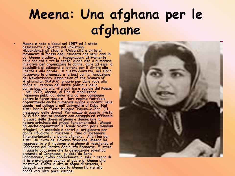Meena: Una afghana per le afghane