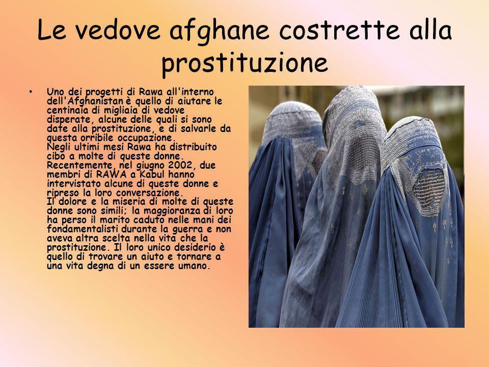 Le vedove afghane costrette alla prostituzione