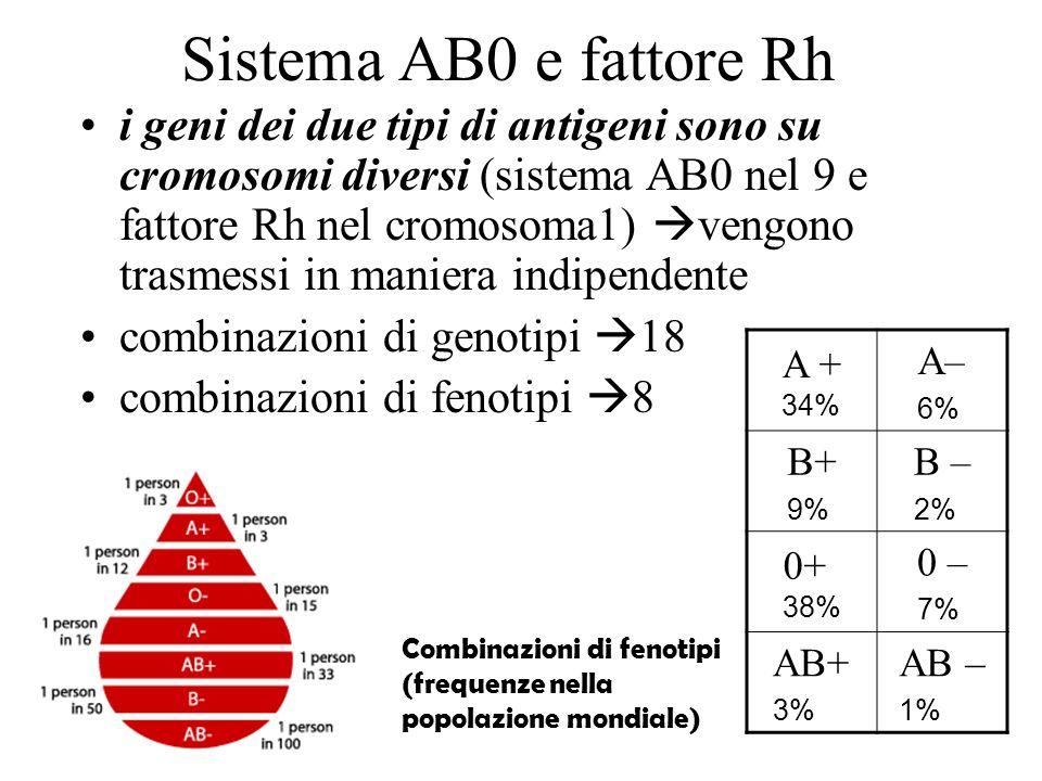 Sistema AB0 e fattore Rh