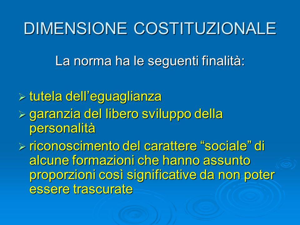 DIMENSIONE COSTITUZIONALE