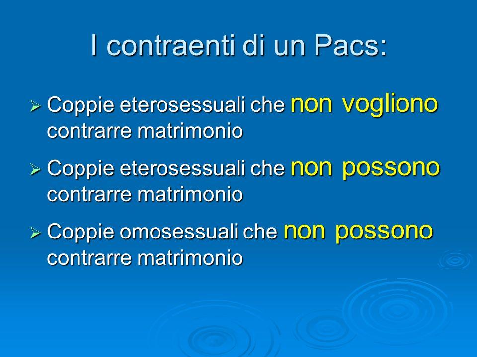 I contraenti di un Pacs: