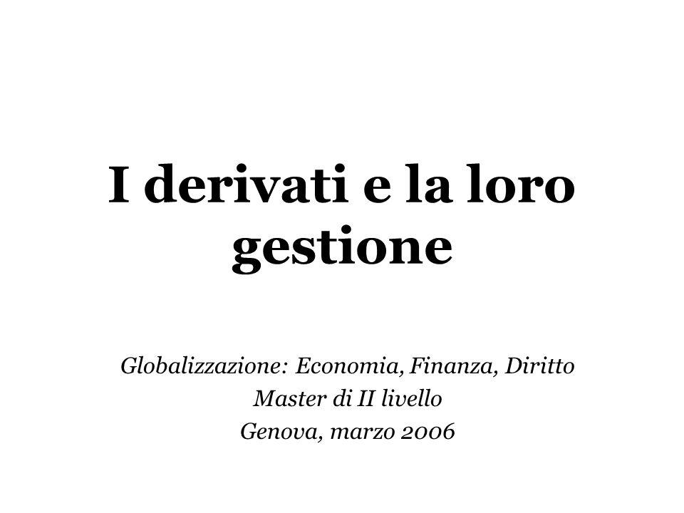 I derivati e la loro gestione