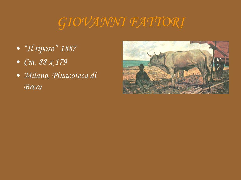 GIOVANNI FATTORI Il riposo 1887 Cm. 88 x 179