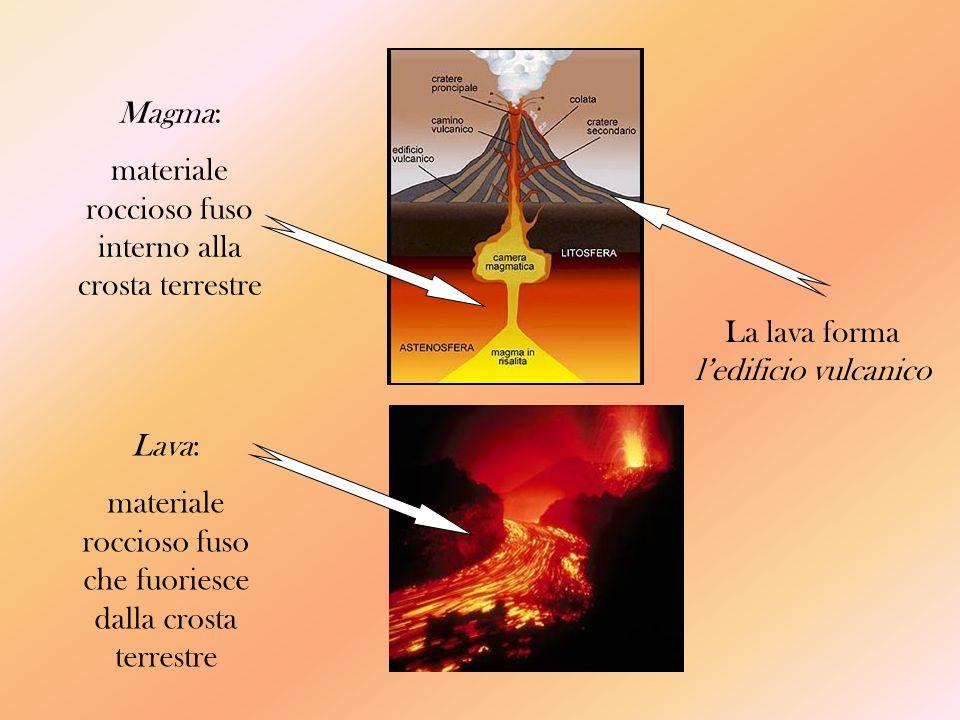 materiale roccioso fuso interno alla crosta terrestre