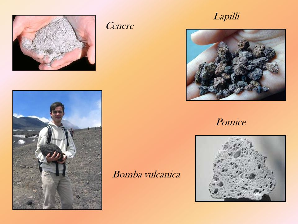 Lapilli Cenere Bomba vulcanica Pomice
