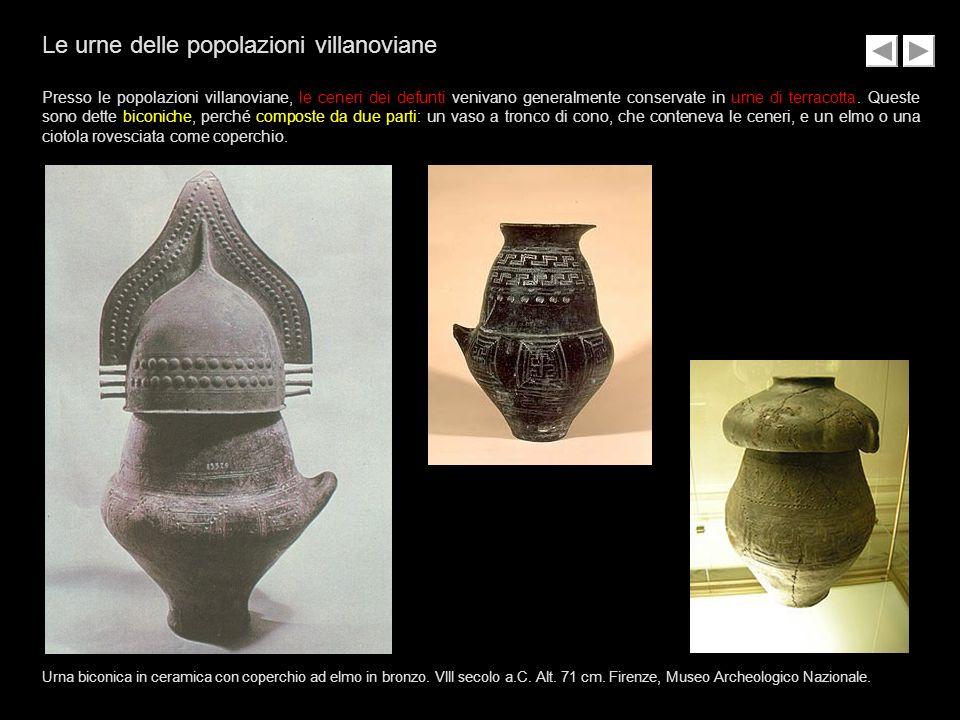Le urne delle popolazioni villanoviane