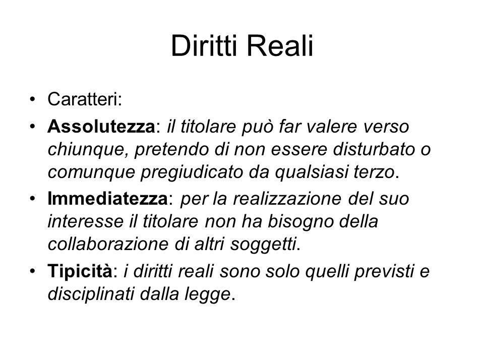 Diritti Reali Caratteri: