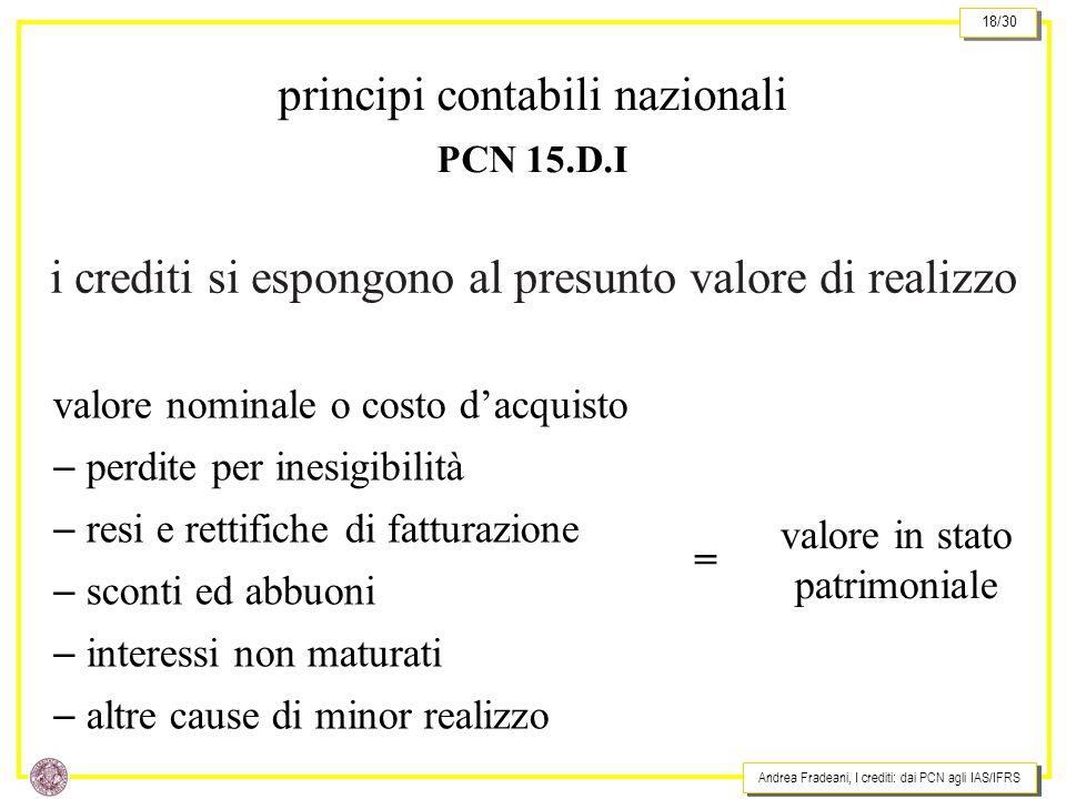 principi contabili nazionali