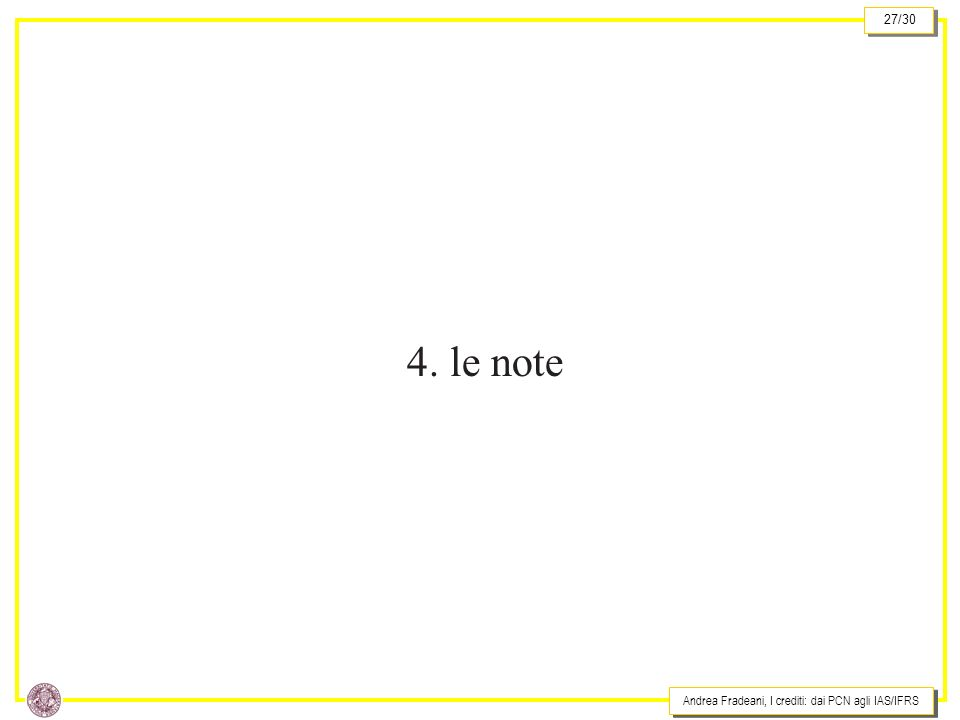 4. le note