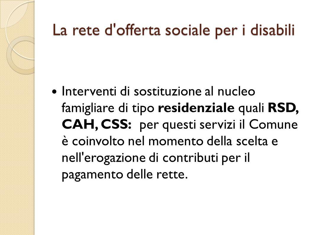 La rete d offerta sociale per i disabili